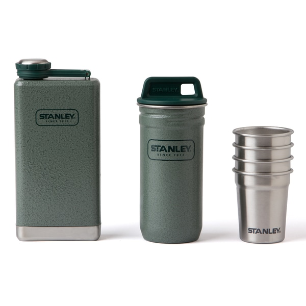 Stanley Adventure Hammertone Green Flask and Shot Set