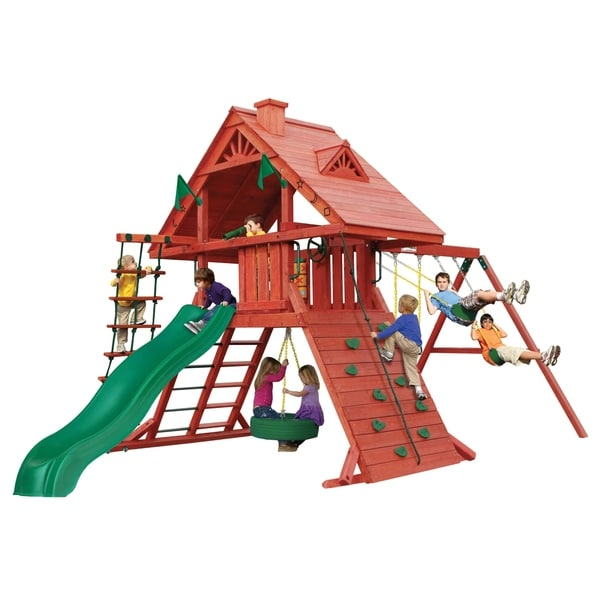 Gorilla Playsets Sun Palace I Cedar Swing Set