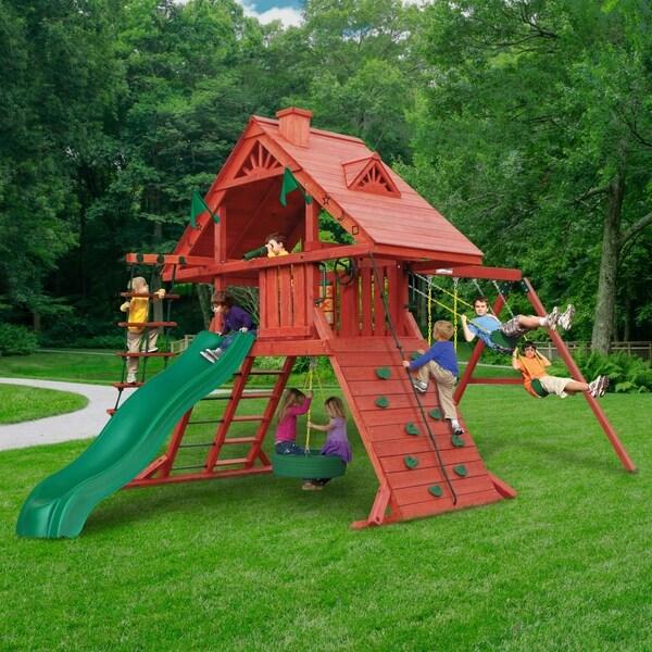 Gorilla Playsets Sun Palace I Multi Cedar Wood Swing Set