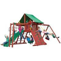 Gorilla Playsets Sun Valley II Cedar Swing Set - Red