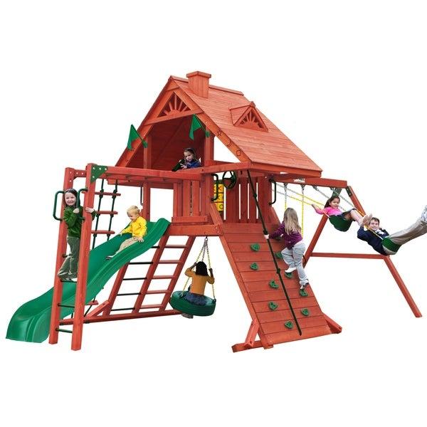Shop Gorilla Playsets Sun Palace Ii Cedar Swing Set Free Shipping