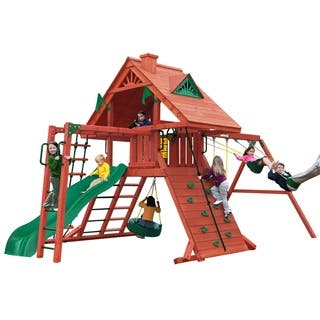 Gorilla Playsets Sun Palace II Backyard Swing Set|https://ak1.ostkcdn.com/images/products/9565308/P16750770.jpg?impolicy=medium