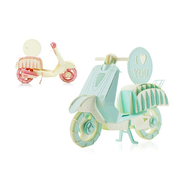 Papero Pink and Mint Mini Scooters Assemblage Model Kit