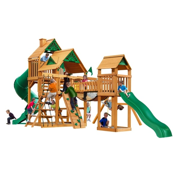 Shop Gorilla Playsets Treasure Trove Cedar Swing Set With Natural