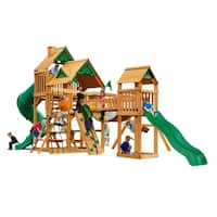 Gorilla Playsets Treasure Trove Cedar Swing Set with Natural Cedar Posts