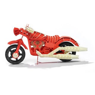 Papero Red Motorcycle Assemblage Model Kit