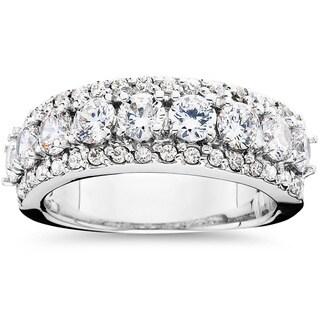 14k White Gold 2 1/10ct TDW Diamond Anniversary Ring