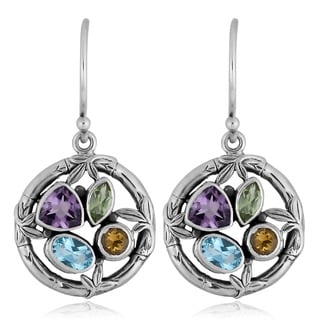 Sterling Silver Multi-stone 'Mother Nature' Cawi Earrings (Indonesia)