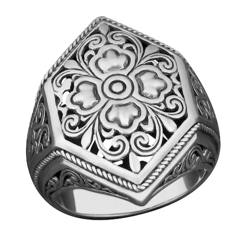 Handmade Sterling Silver Cawi Cocktail Ring (Indonesia)