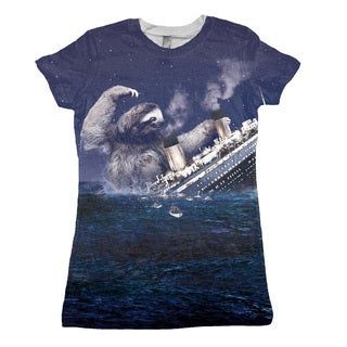 Women's Sloth Titanic Short-sleeve Top
