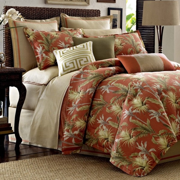 Tommy bahama catalina 4 piece comforter set free Tommy bahama bedding