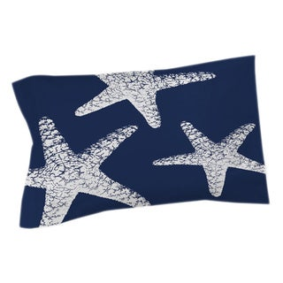 Thumbprintz Nautical Nonsense White Blue Starfish Sham