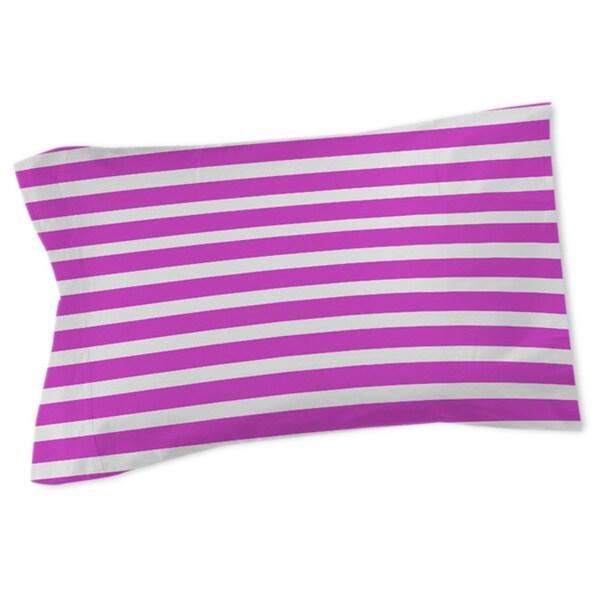 Bright Stripes Pink Sham