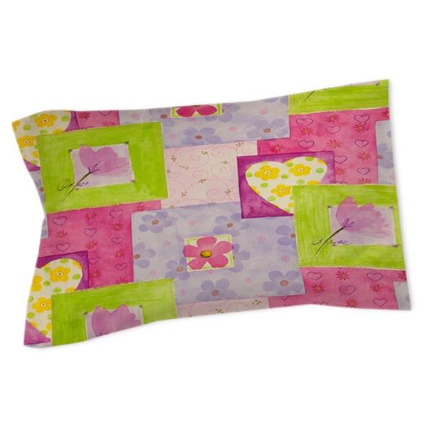 Hearts and Flowers Sham