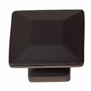 GlideRite 1.375-inch Matte Black Square Cabinet Knobs (Pack of 25)