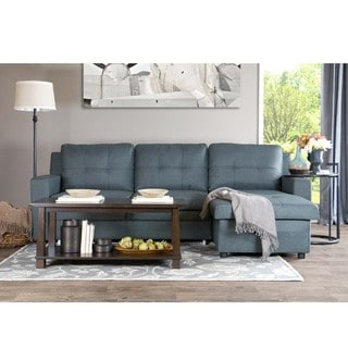 Shop Baxton Studio Staffordshire Grey Sectional Sofa