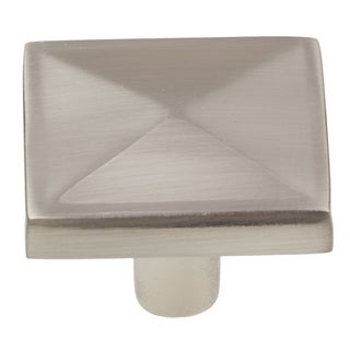 GlideRite 1.125-inch Satin Nickel Classic Pyramid Cabinet Knobs (Pack of 25)
