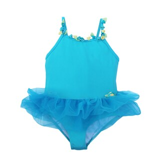 Azul Swimwear 'Bibbiti Boppity Boo' Aqua Skirted One-piece
