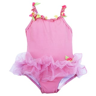 Azul Swimwear 'Bippity Boppity Boo' Pink Skirted One-piece