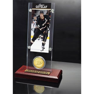 NHL Anaheim Ducks Ryan Getzlaf Ticket and Bronze Coin Desktop Acrylic Display