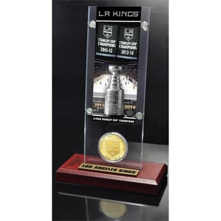 NHL Los Angeles Kings Los Angeles Kings 2x Stanley Cup Champions Ticket and Bronze Coin Acrylic Display