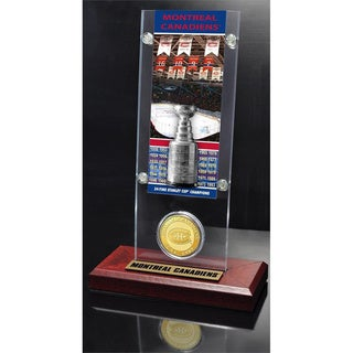 NHL Montreal Canadiens Montreal Canadiens 24x Stanley Cup Champions Ticket and Bronze Coin Acrylic Display