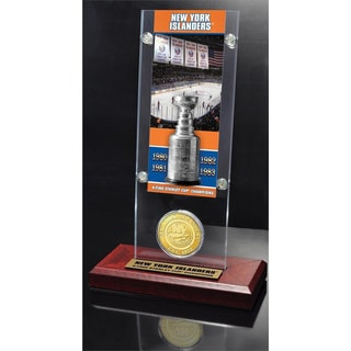NHL New York Islanders New York Islanders 5x Stanley Cup Champions Ticket and Bronze Coin Acrylic Display