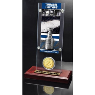 NHL Tampa Bay Lightning Tampa Bay Lightning Stanley Cup Champions Ticket and Bronze Coin Acrylic Display