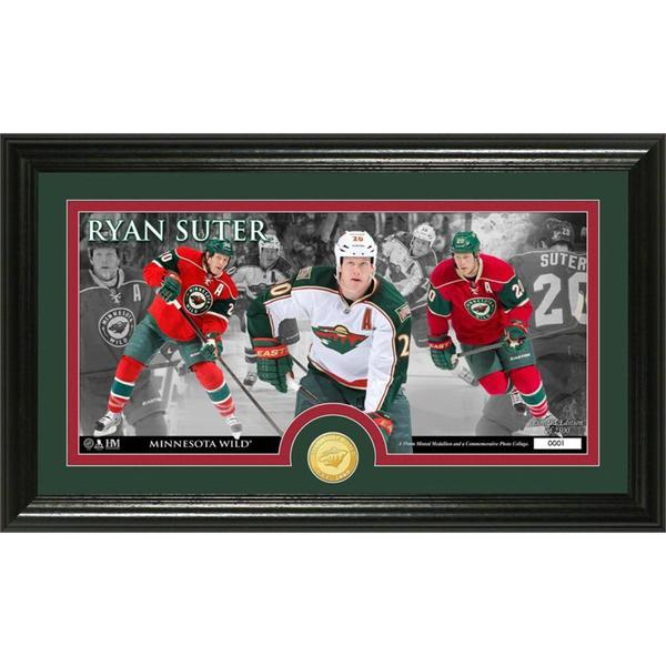 NHL Minnesota Wild Ryan Suter Bronze Coin Pano Photo Mint