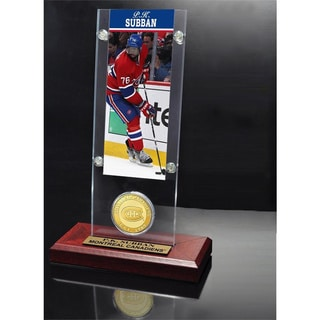 NHL Montreal Canadiens P.K.Subban Ticket and Bronze Coin Desktop Acrylic Display