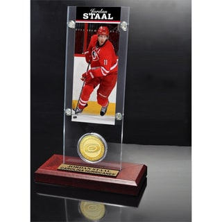 NHL Carolina Hurricanes Jordan Staal Ticket and Bronze Coin Desktop Acrylic Display