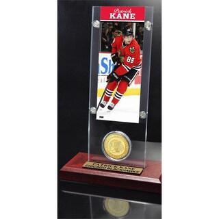 NHL Chicago Blackhawks Patrick Kane Ticket and Bronze Coin Desktop Acrylic Display