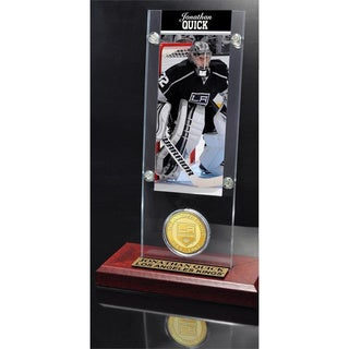 NHL Los Angeles Kings Jonathan Quick Ticket and Bronze Coin Desktop Acrylic Display