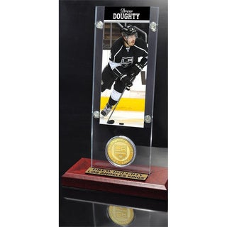 NHL Los Angeles Kings Drew Doughty Ticket and Bronze Coin Desktop Acrylic Display