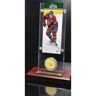 NHL Minnesota Wild Ryan Suter Ticket and Bronze Coin Desktop Acrylic Display