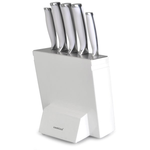 Cook Amp Co White 6 Piece Knife Set Free Shipping Today