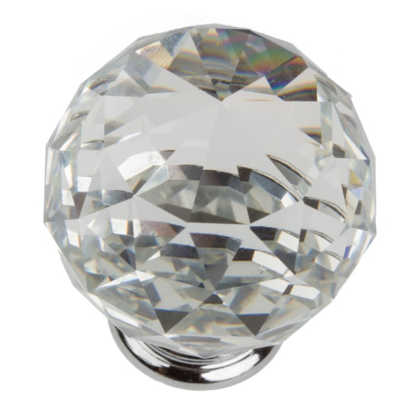 Shop GlideRite 1.57-inch Clear K9 Crystal Cabinet Knobs