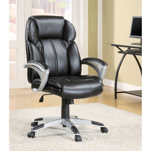 Office Chair Companies: Shop Coaster Company Contemporary Black Vinyl Wheeled