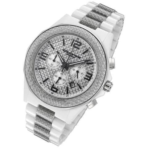 Cirros Milan Silver Carbon Fiber Chronograph Watch