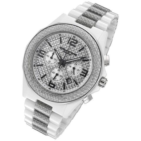 Cirros Milan Men's Silver Carbon Fiber Chronograph Watch