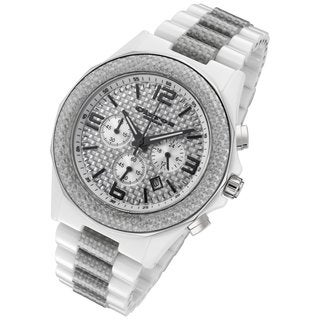 Cirros Milan Men's Silver Carbon Fiber Chronograph Watch