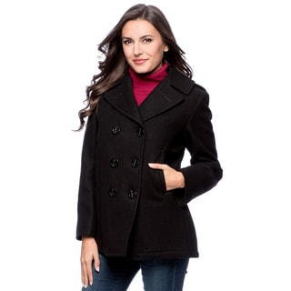 Excelled Women&39s Double Breasted Pea Coat - Free Shipping Today