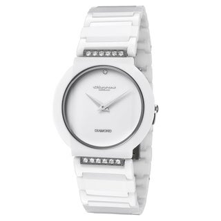 Cirros Luxury Women's White Ceramic Watch with Diamond