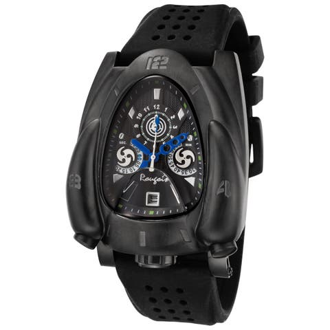 Rougois Men's Shadow Rocket Black Strap Watch
