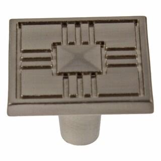 GlideRite 1.25-inch Craftsman Series Satin Nickel Square Cabinet Knobs (Pack of 25)