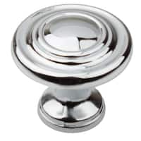 GlideRite 1.25-inch Polished Chrome 3-Ring Round Cabinet Knobs (Pack of 25)