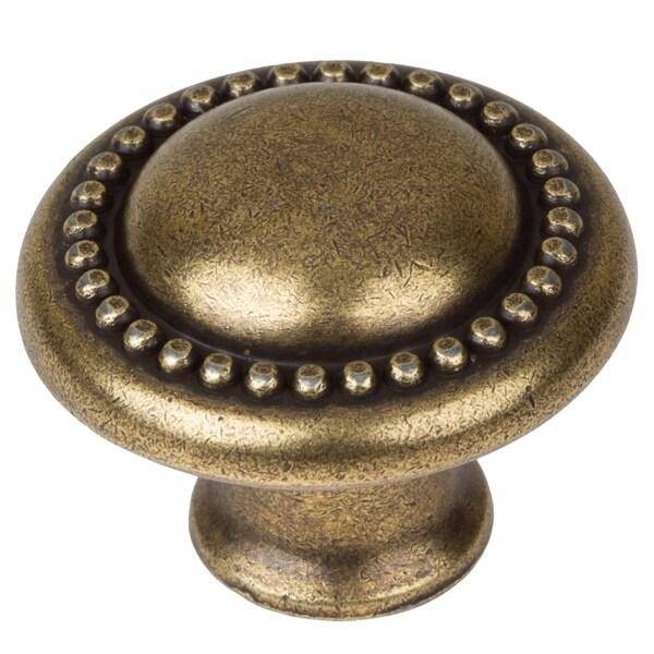 Kitchen Cabinet Knobs Cheap: Shop GlideRite 1.25-inch Antique Brass Round Beaded