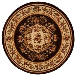 Rug Squared Mariposa Chocolate Round Rug (5'3 x 5'3)