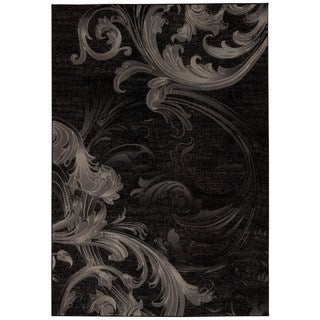 Rug Squared Calistoga Black/ Grey Rug (3'9 x 5'9)