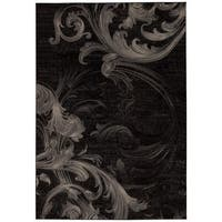 Rug Squared Calistoga Black/ Grey Rug (5'3 x 7'4) - 5'3 x 7'4
